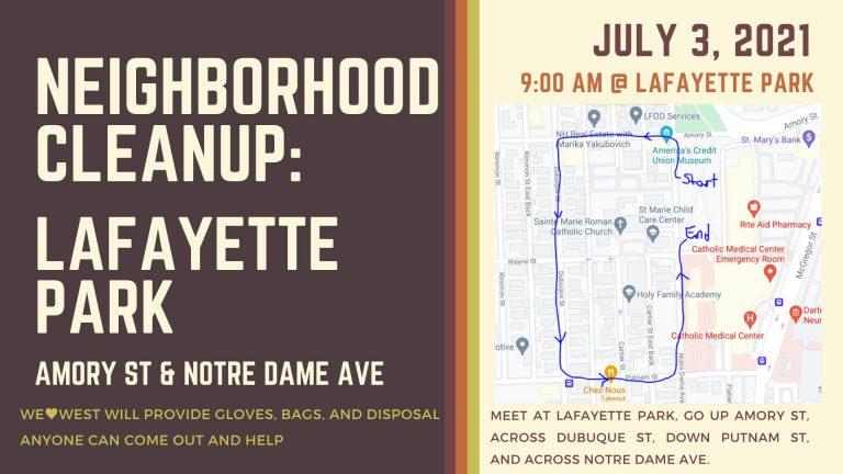 Neighborhood Cleanup: Lafayette Park