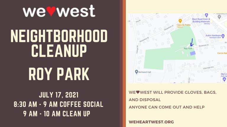Neighborhood Cleanup: Roy Park
