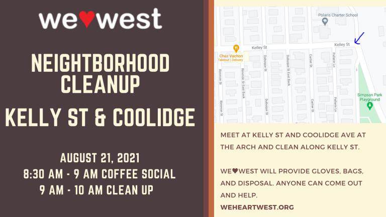 Neighborhood Cleanup: Kelly St & Coolidge